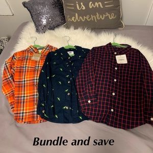 Shirts & Tops - Sold - Set of 3 Long sleeve shirts size 4T-5T